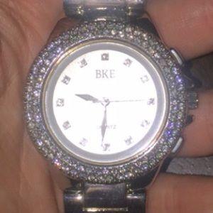 BKE silver / diamond watch